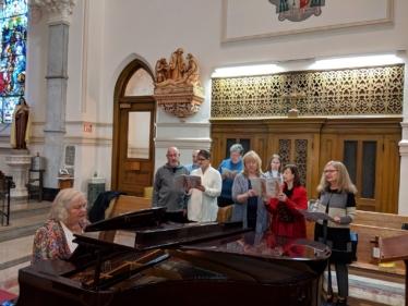 Christine Pawlowski and the St. Andrew Parish choir
