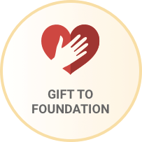 Heart icon with the words Gift to Foundation