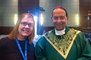 Sue Berdis and Archbishop William E Lori