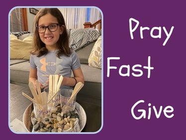 Kendall Saquin with her March prayer table